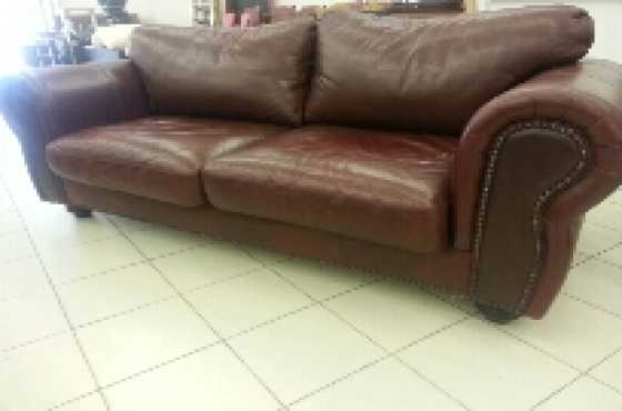 Coricraft 3 Seater Genuine Leather Couch For Sale