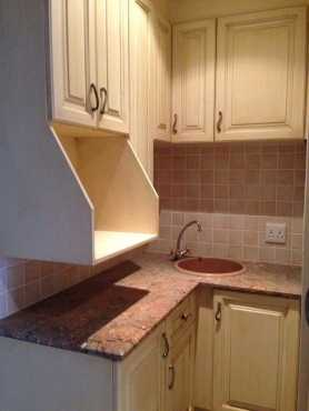 KITCHENETTE. SMALL KITCHEN. BARELY USED. With excellent quality GRANITE TOPS