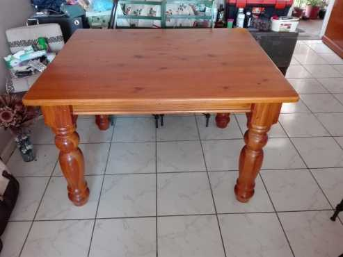 Yellow Wood Diningroom Table For Sale