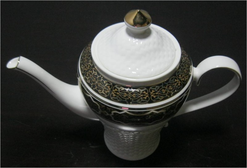 Black Tea Set with Tray
