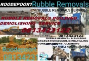 RUBBLE REMOVALS BUILDING DEMOLISHING  SERVICE 0813423122  ROODEPOORT